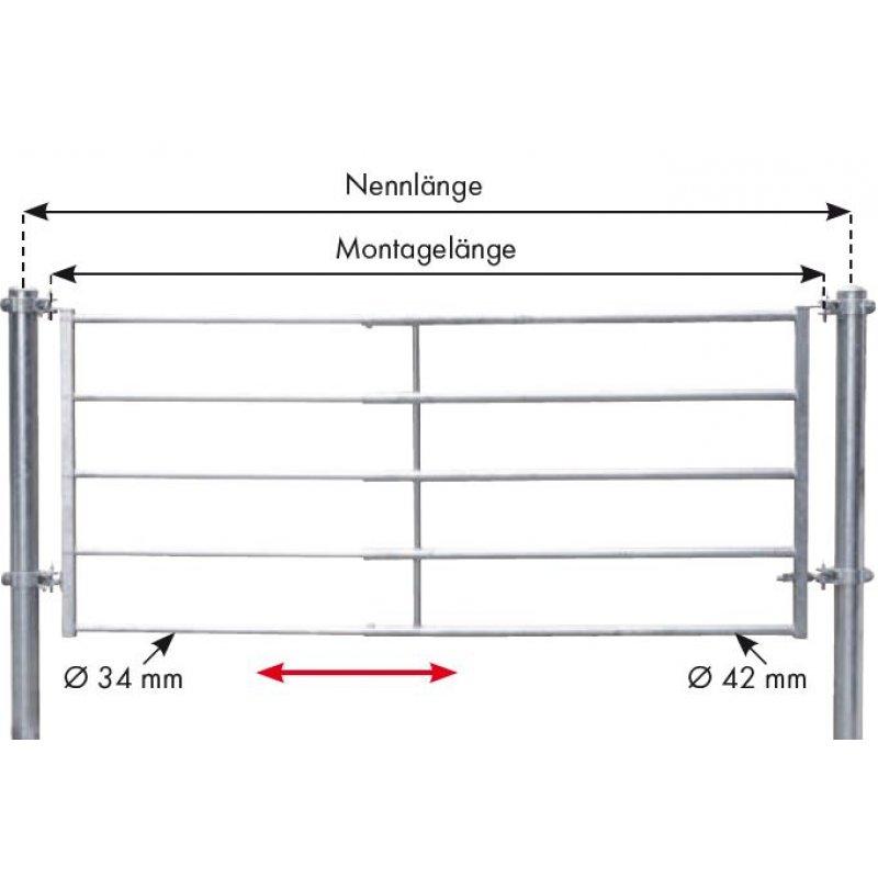 abtrennung leicht h he 115 cm montagel nge 170 280 cm. Black Bedroom Furniture Sets. Home Design Ideas