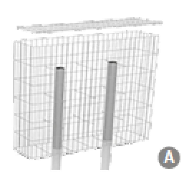 gabionen zaunelement breite 200 cm 616 50. Black Bedroom Furniture Sets. Home Design Ideas