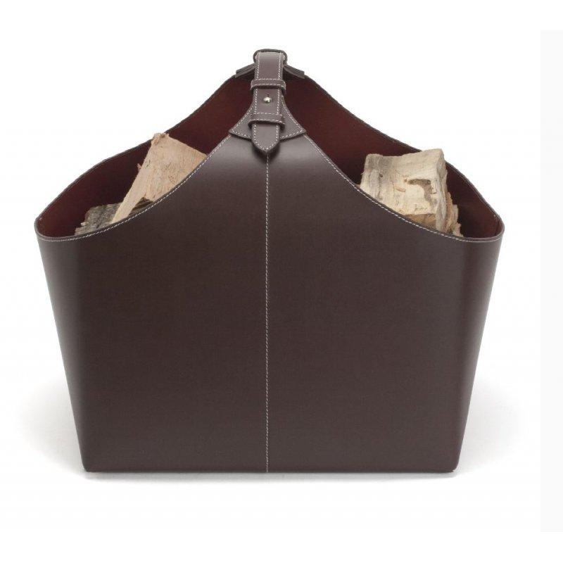 holzkorb orskov in leder braun 167 00. Black Bedroom Furniture Sets. Home Design Ideas