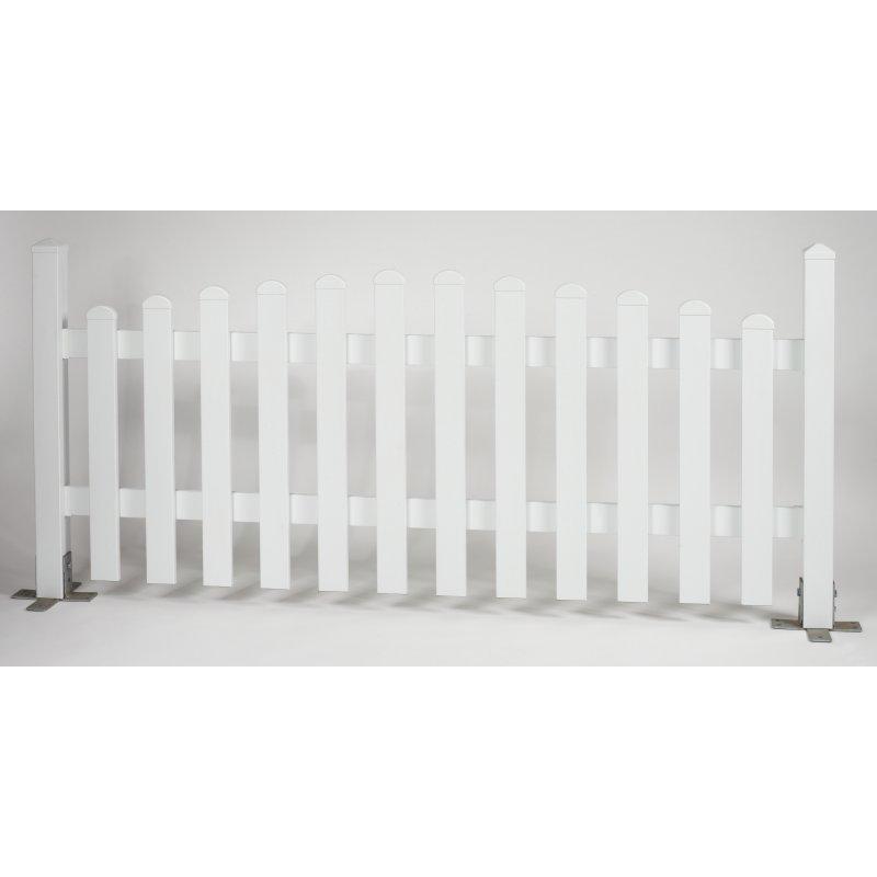 komplettpaket kunststoffzaun carme h he 80cm 606 00. Black Bedroom Furniture Sets. Home Design Ideas