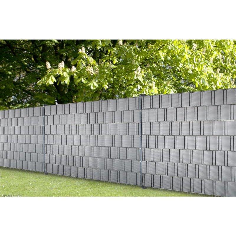 kunststoff sichtschutz hellgrau 10 streifen a 252cm 77 40. Black Bedroom Furniture Sets. Home Design Ideas
