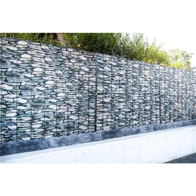... PVC Sichtschutz Stein Mediterano (26 M Rolle)