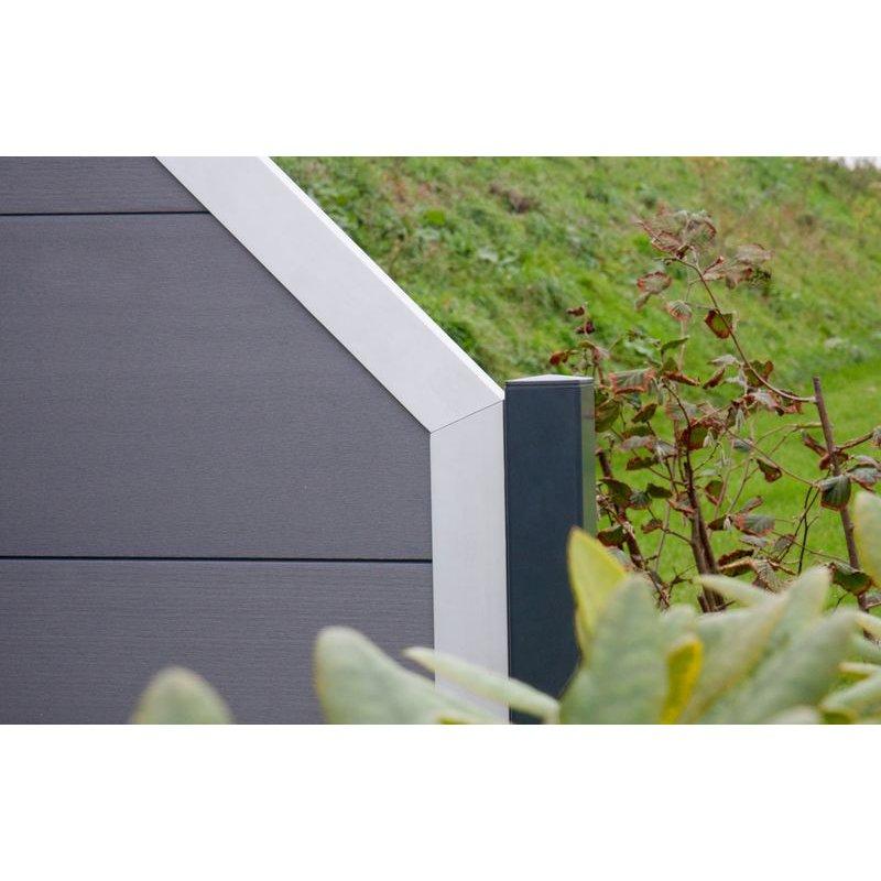 sichtschutzzaun viento mit aluminiumrahmen 179 10. Black Bedroom Furniture Sets. Home Design Ideas