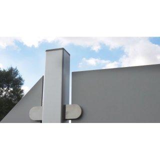 alupfosten f r sichtschutzzaun premo zum einbetonieren 150 cm al. Black Bedroom Furniture Sets. Home Design Ideas