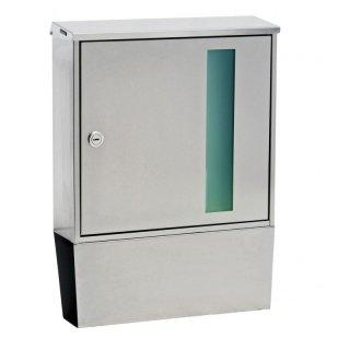 briefkasten portland d inkl zeitungsfach aufputz edelstahl geb r 158 00. Black Bedroom Furniture Sets. Home Design Ideas