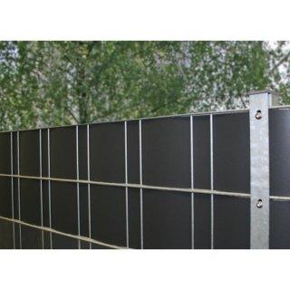 Doppelstabmatten Sichtschutz Pvc Fenstergrau Ral 7040 50m Rolle