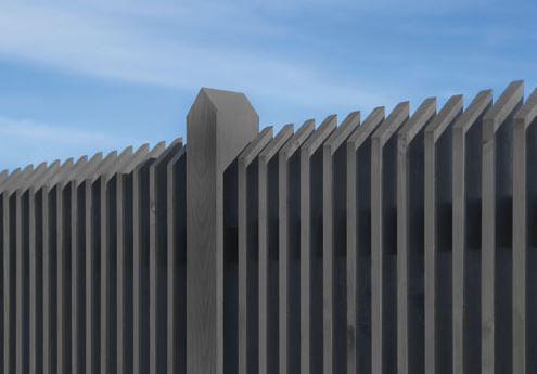 Holzlatten Zaun
