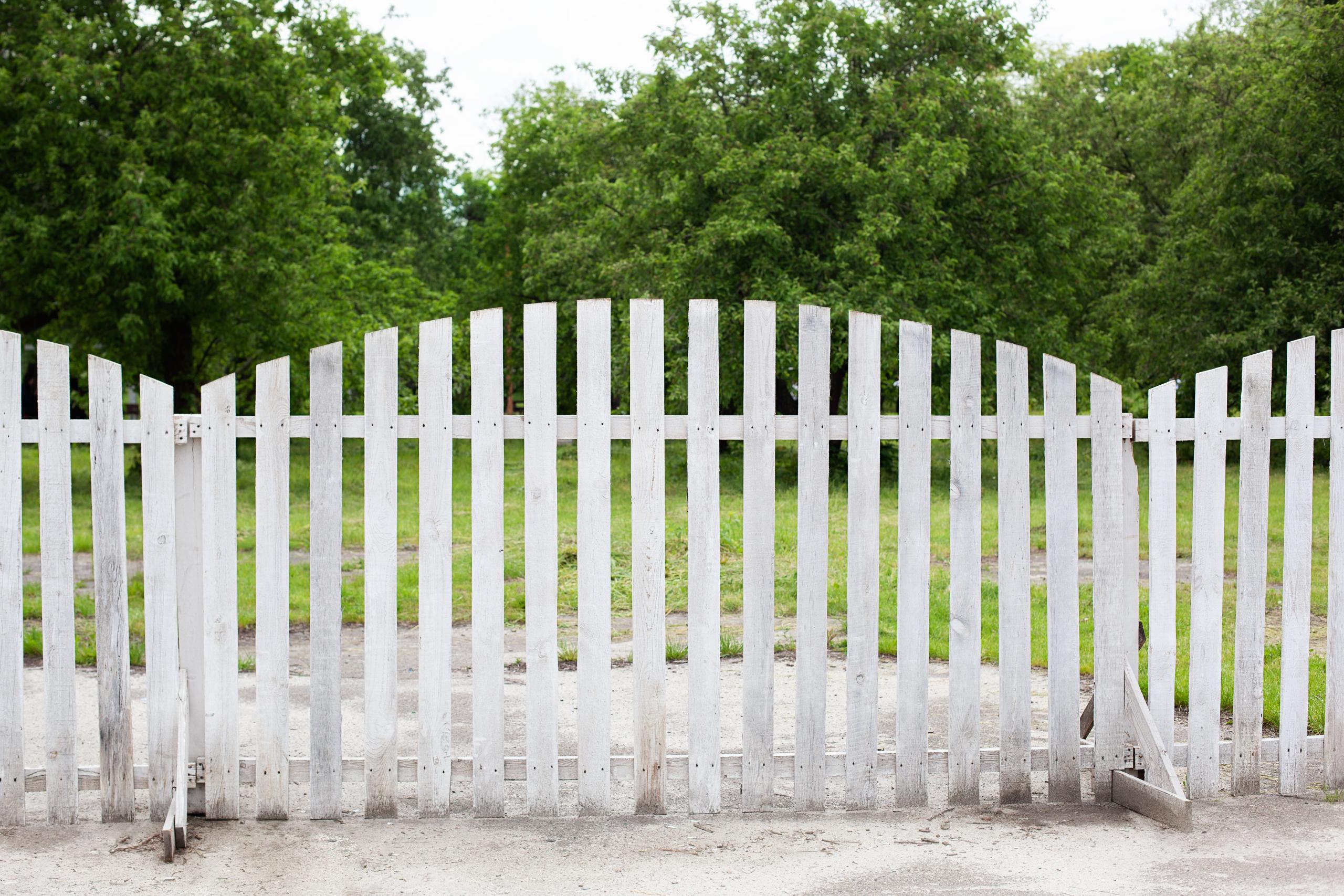 Zaun auf Grundstücksgrenze