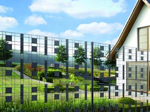 Ein Beispiel für modernen Zaunbau