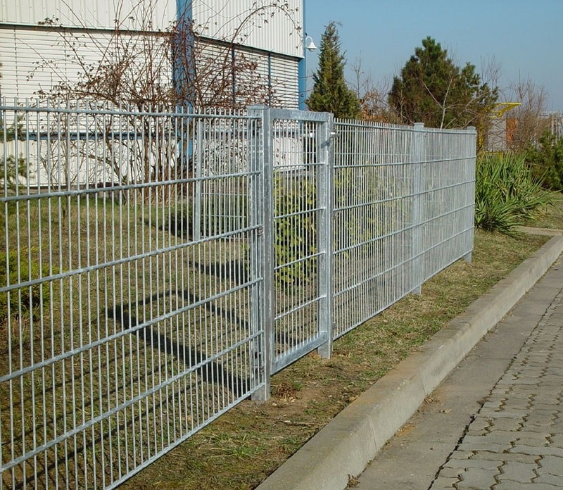 Hadra Doppelstabmatten Zaun verzinkt günstig online bestellen