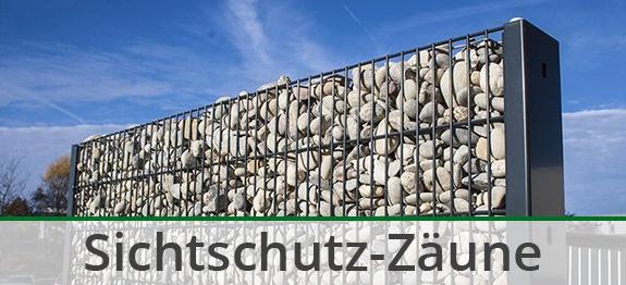 Gabionen-Zaun als Zaunsystem mit Zaunelementen