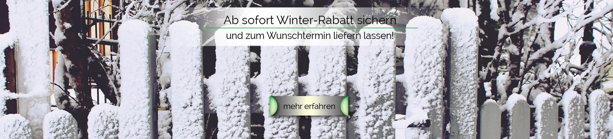 Winter-Rabatt sichern und sparen