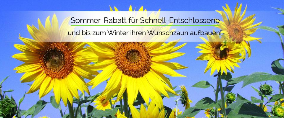 Sommer-Rabatt: 3% Rabatt - schon ab einem Bestellwert von   500,- Euro.