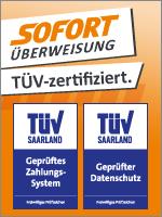 Sofort Überweisung als Bezahlart - TÜV zertifiziert
