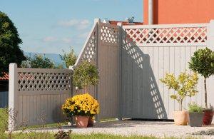 Zaunserie Husum Terrasse mit Sichtschutz