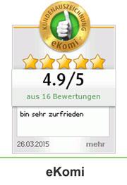 Ekomi beste Kundenbewertung: Goldstatus